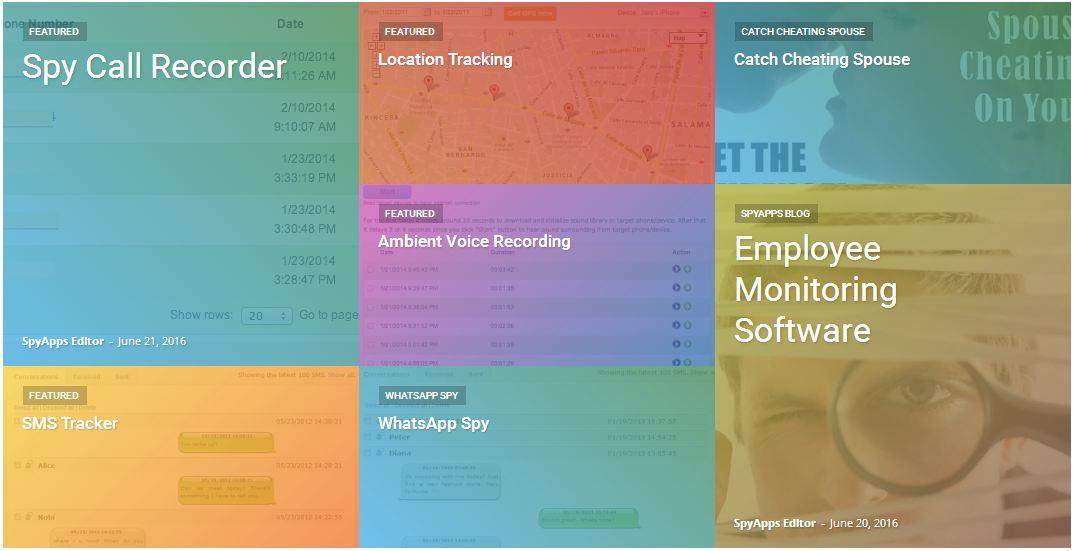 Features of spyware FreePhoneSpy