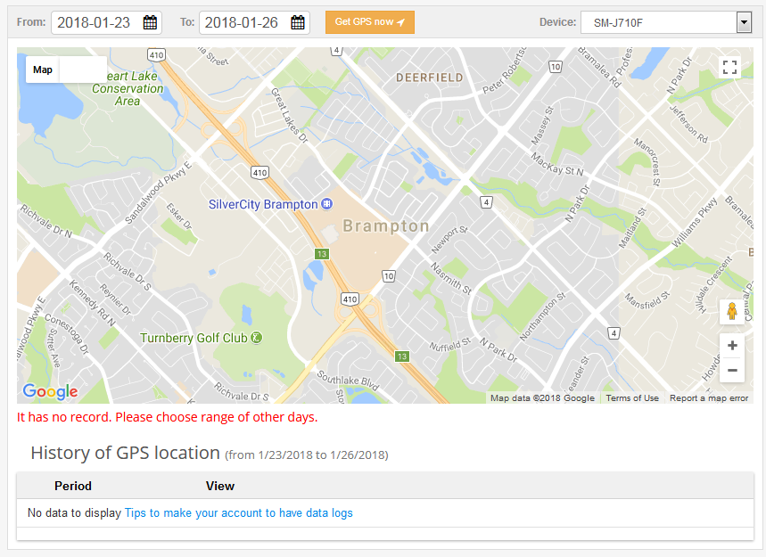 Way 2- Track mobile location through mobile number tracker software