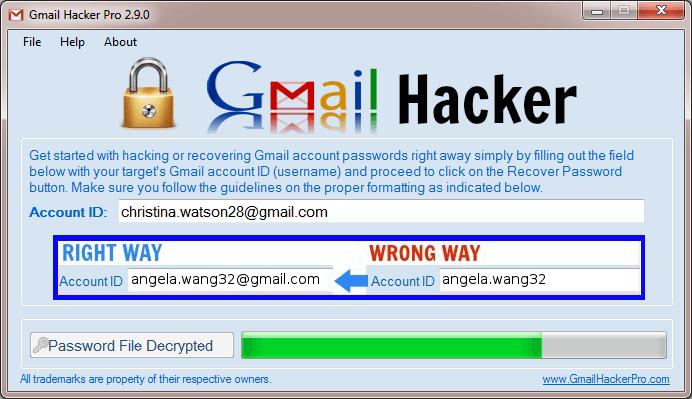 Way 2: Hack Gmail Password using Gmail password hack