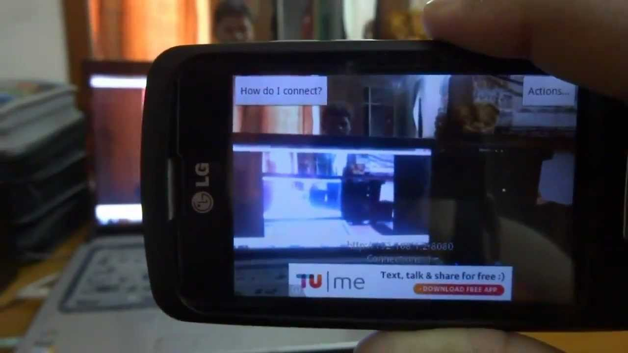 How to use IP Webcam for spying on someone through their phone camera